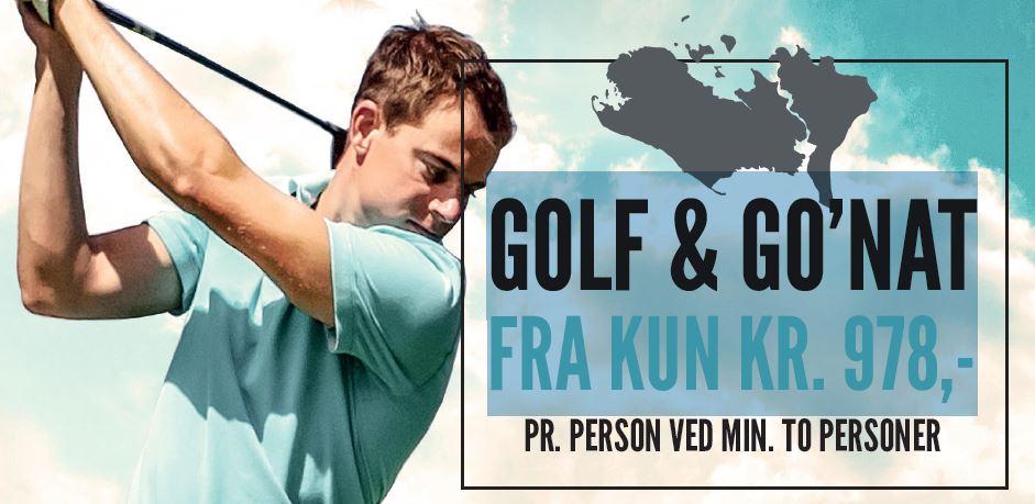 Oplev 29.111 meter fairway på fem spændende golfbaner -overnat på otte drømmesteder. GOLF & GO'NAT FRA KUN KR. 978,-